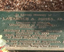 Jones Memorial Plaque